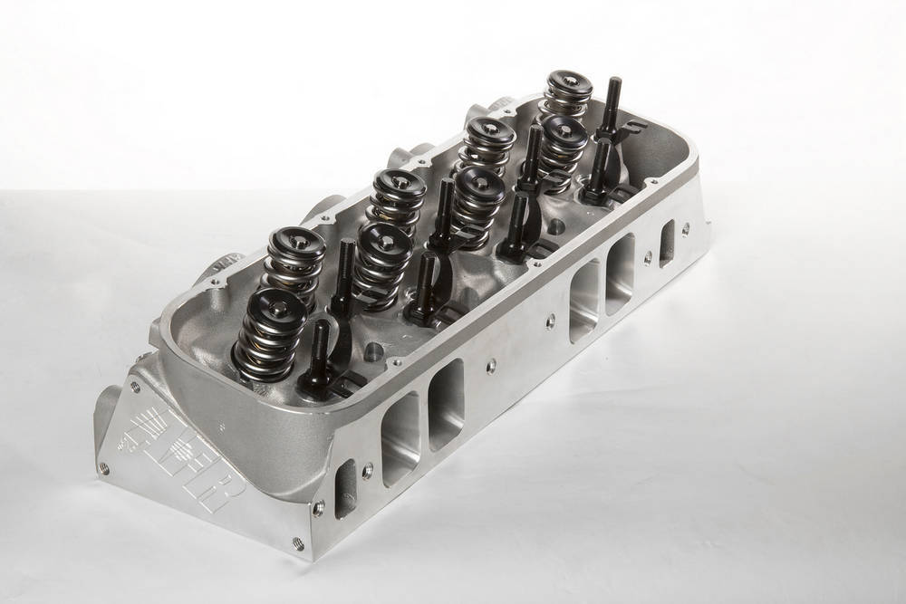 Air Flow Research 2110-1 Cylinder Head, Magnum Comp, Assembled, 2.300 / 1.880 in Valves, 345 cc Intake, 121 cc Chamber, 1.625 in Springs, Aluminum, Big Block Chevy, Pair