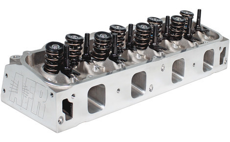 Air Flow Research 3817 Cylinder Head, Bullitt, Assembled, 2.250 / 1.760 in Valves, 295 cc Intake, 75 cc Chamber, 1.625 in Springs, Aluminum, Big Block Ford, Pair
