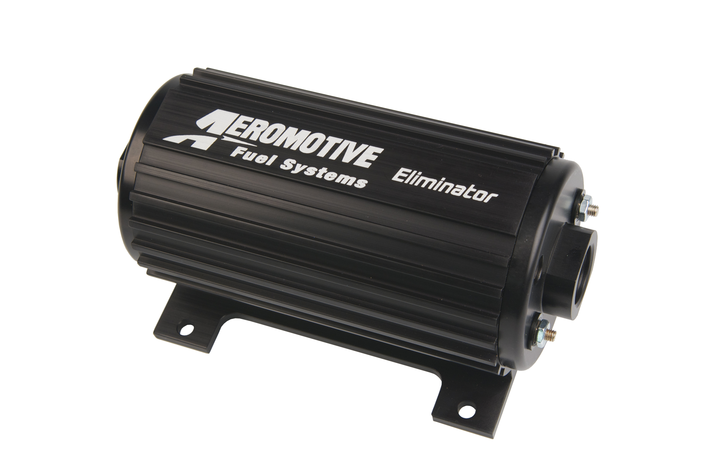 Aeromotive 11104 Fuel Pump, Eliminator, Electric, In-Line / In-Tank, 166 gph at 45 psi, 12 AN Inlet, 10 AN Outlet, Black, E85 / Gas, Each