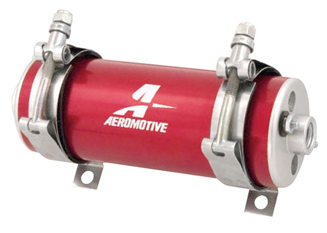 Aeromotive 11106 Fuel Pump, A750, Electric, In-Line / In-Tank, 92 gph at 45 psi, 8 AN Inlet, 6 AN Outlet, Red, E85 / Gas, Each