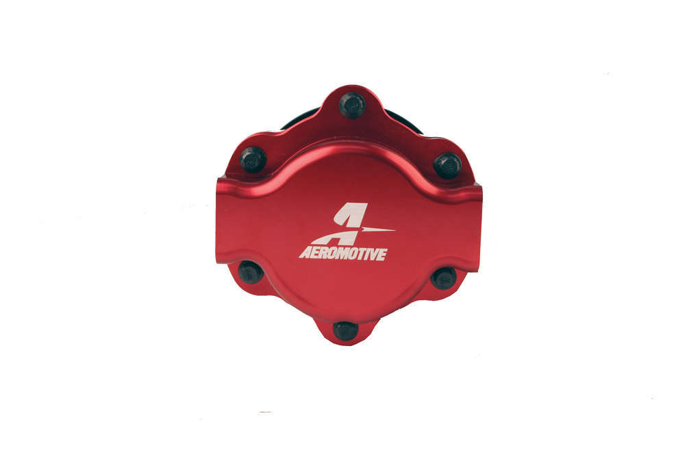 Aeromotive 11107 Fuel Pump, Billet Hex Drive, Hex Driven, In-Line, 10 AN Inlet, 10 AN Outlet, Red, E85 / Gas, Each