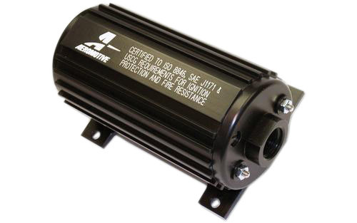Aeromotive 11110 Fuel Pump, Eliminator Marine, Electric, In-Line / In-Tank, 166 gph at 45 psi, 12 AN Inlet, 10 AN Outlet, Black, E85 / Gas, Each