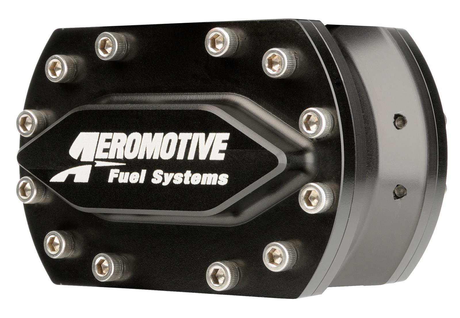 Aeromotive 11132 Fuel Pump, Hex Driven, 1290 gph, In-Line, 4-Bolt Flange Inlet / Outlet, Aluminum, Black Anodize, Each