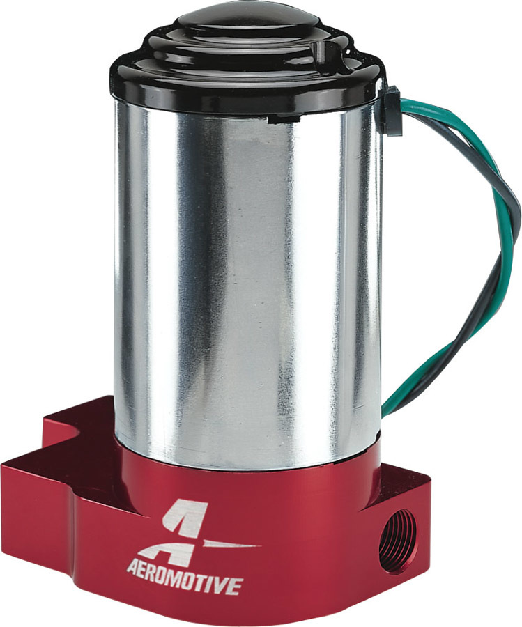 Aeromotive 11203 Fuel Pump, SS, Electric, In-Line, 140 gph Free Flow, 3/8 in NPT Inlet, 3/8 in NPT Outlet, 14 psi Internal Regulator, Red, E85 / Gas, Each