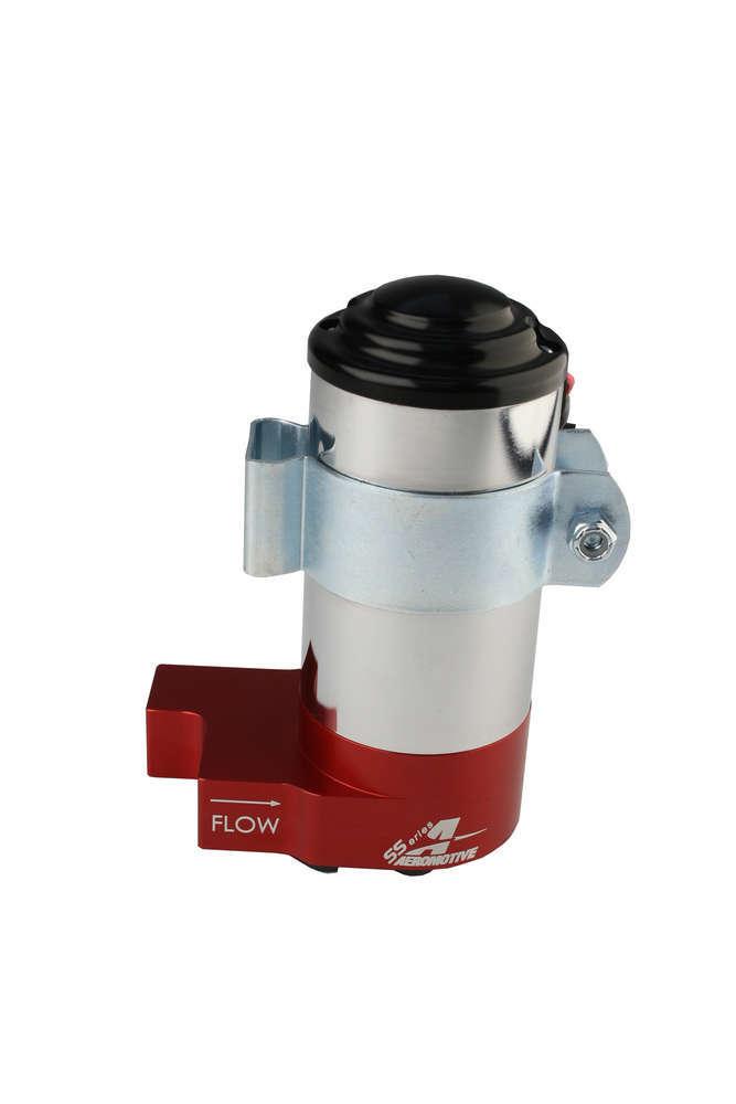 Aeromotive 11213 Fuel Pump, SS, Electric, In-Line, 140 gph Free Flow, 8 AN Inlet, 8 AN Outlet, 14 psi Internal Regulator, Red, E85 / Gas, Each