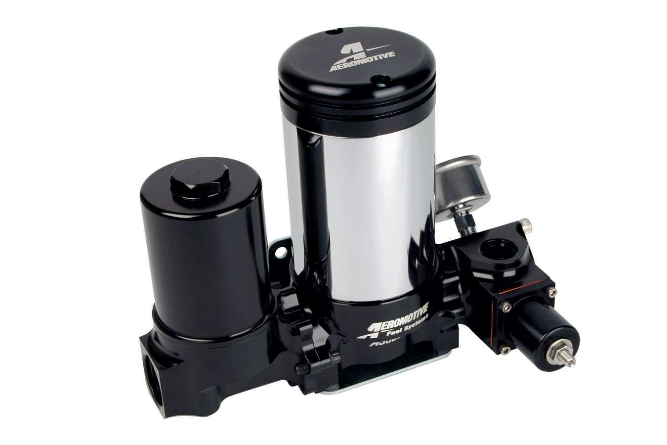 Aeromotive 11215 Fuel Pump, A3000, Electric, In-Line, 408 gph at 30 psi, 12 AN Inlet, 10 AN Outlet, Black, Regulator / Fuel Filter, E85 / Gas / Diesel, Each
