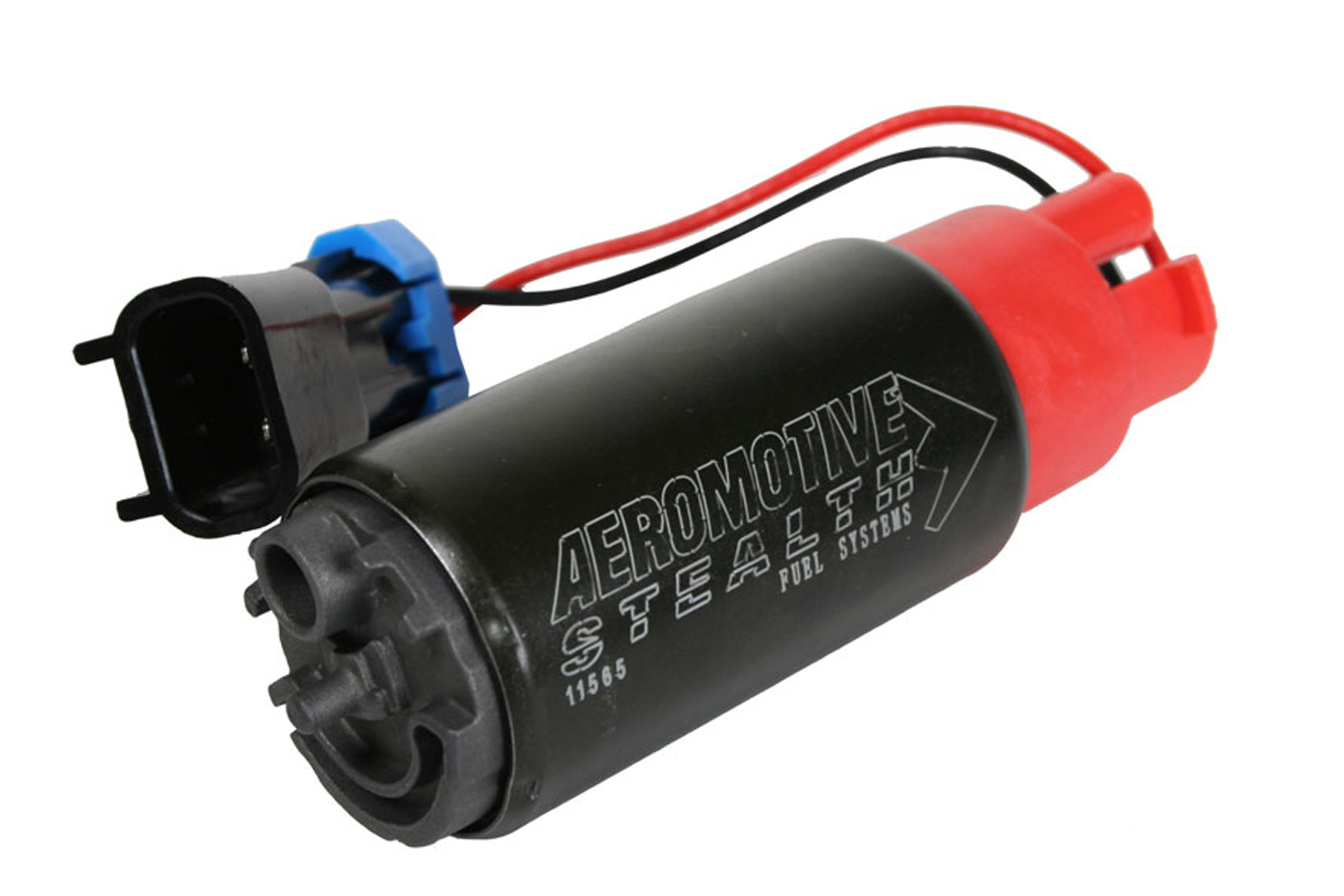 Aeromotive 11565 Fuel Pump, 325 Stealth, Electric, In-Tank, 325 lph at 40 psi, Offset Filter Sock Inlet, 5/16 in Hose Barb Outlet, Install Kit, E85 / Gas, Kit
