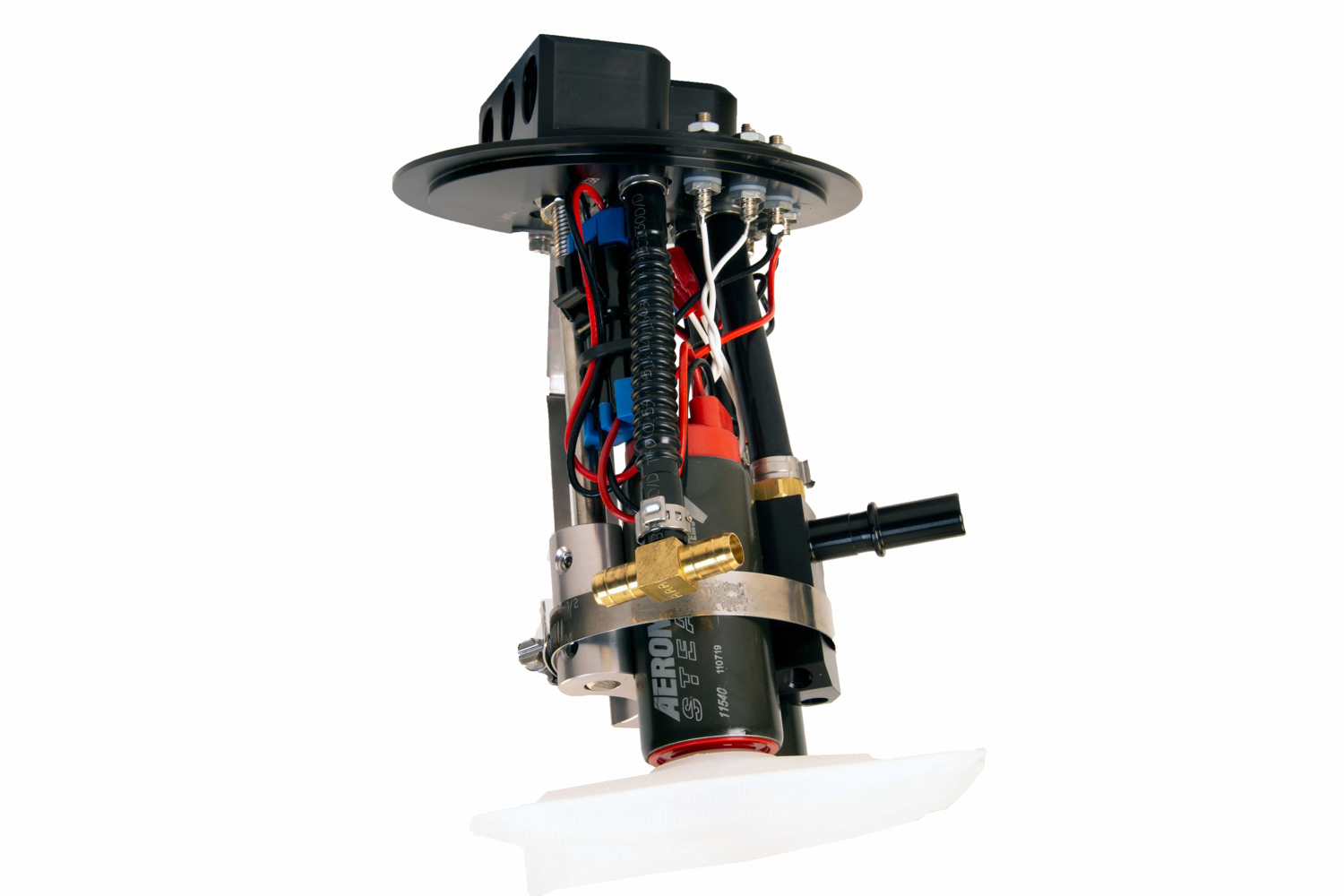 Aeromotive 18039 Fuel Pump, 340 Stealth, Electric, In-Tank, 340 lph at 90 psi, Dual Pump, Center Filter Sock Inlet, 8 AN Female O-Ring Outlet, Install Kit, Gas, Ford Mustang 2011-17, Kit