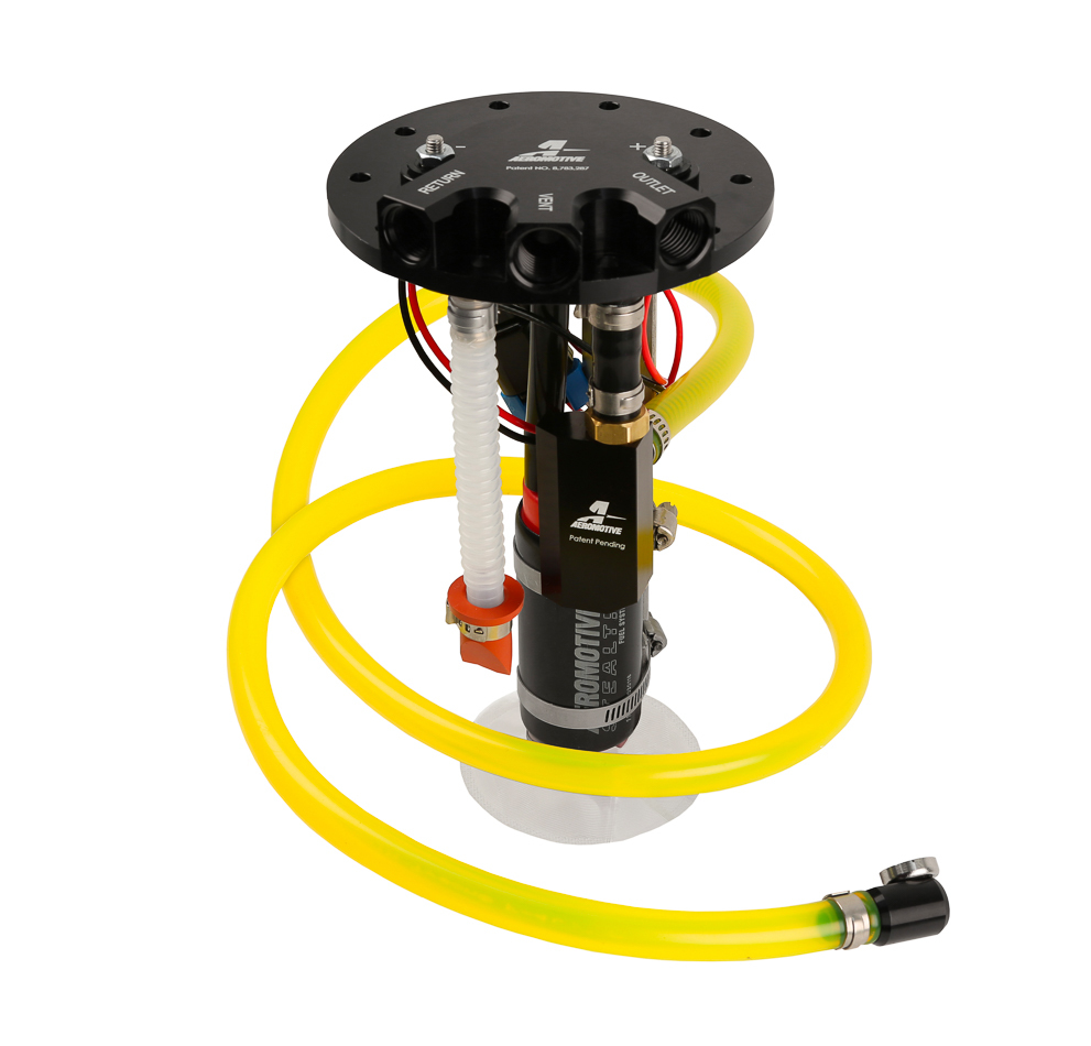Aeromotive 18704 Fuel Pump, Apex Phantom, Electric, In-Tank, 340 lph at 45 psi, 6 AN O-Ring Outlet, 6 AN O-Ring Return, 6 AN O-Ring Vent, Alcohol / E85 / Gas, Universal, Kit
