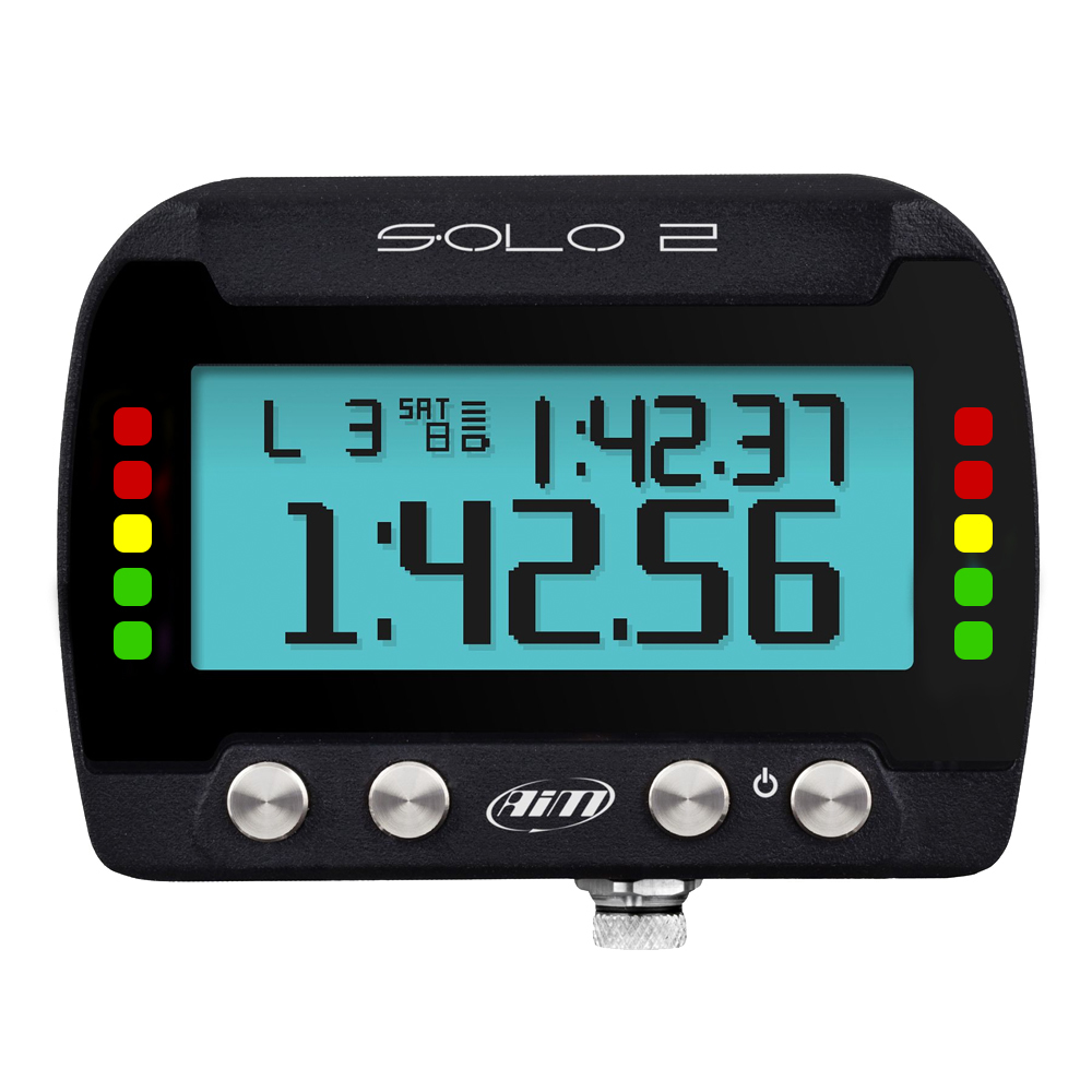 AIM Sports X47SOLO2002U0 Lap Timer, Solo2, Multi-Color Backlight, Programmable, 12 v Direct Power, Kit