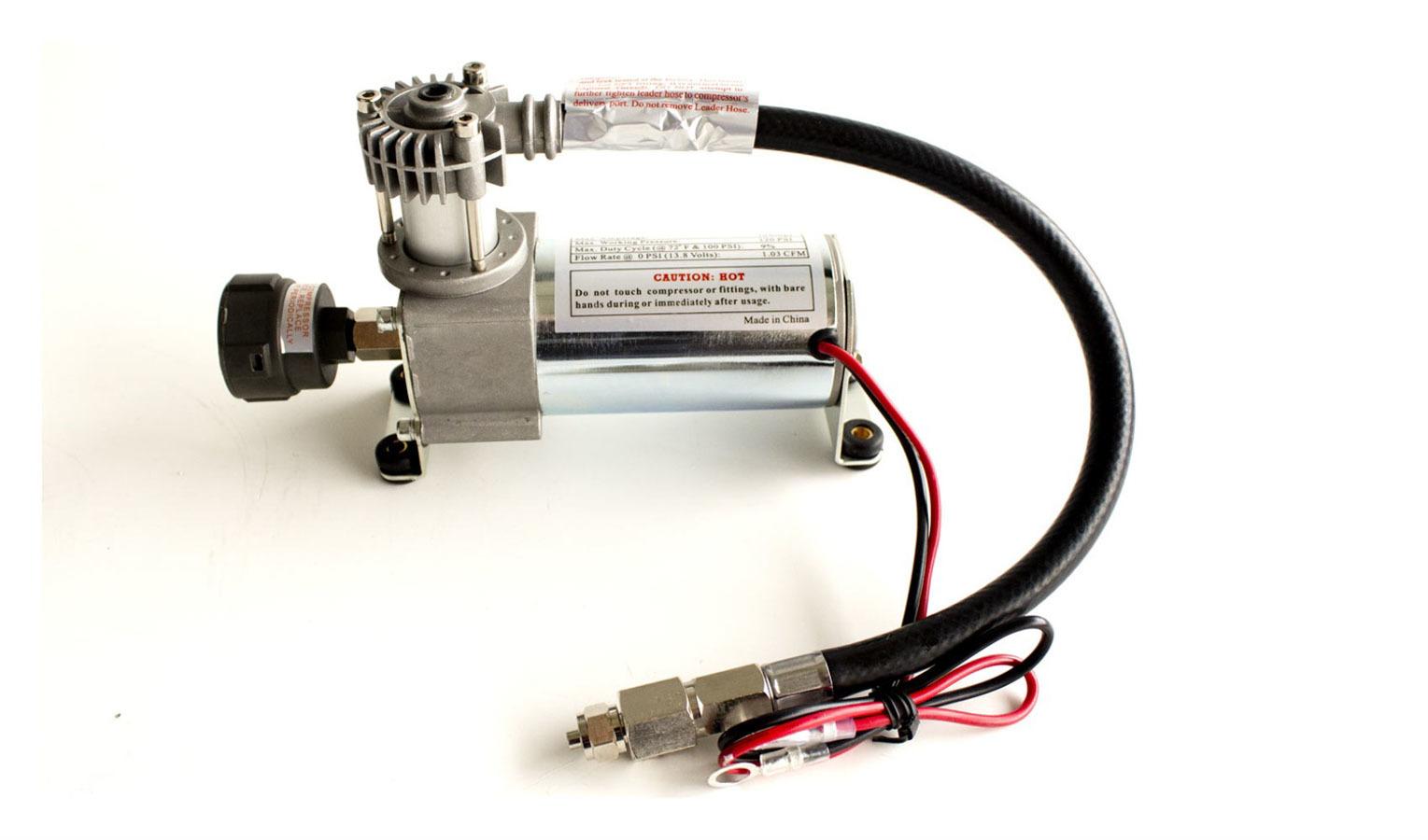 Air Lift 16092 Air Compressor, Suspension, 120 psi Max, 12V, 1.03 CFM, Natural, Air Lift System, Each