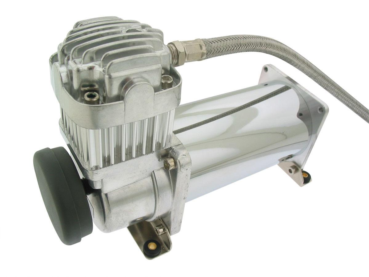 Air Lift 16380 Air Compressor, Viair 380C, Suspension, 200 psi Max, 12V, Chrome, Each
