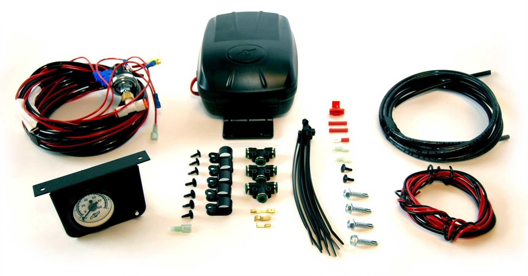 Air Lift 25592 Air Compressor, Load Controller II, Suspension, 100 psi Max, 12V, Single Gauge, Controls / Pressure Sensor, Airlift Air Spring Kits, Kit