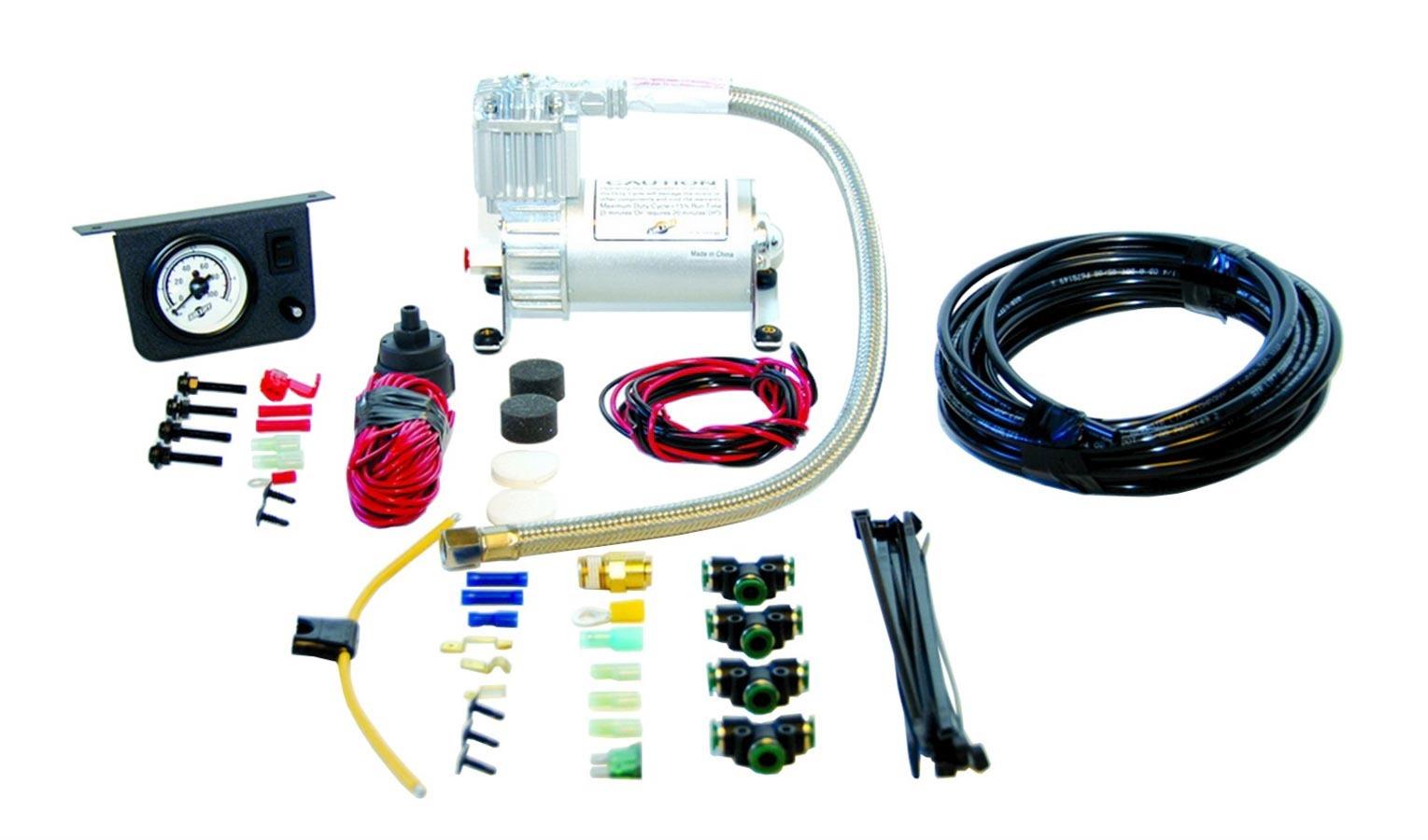 Air Lift 25655 Air Compressor, Load Controller I, Suspension, 100 psi Max, 12V, Single Gauge, Controls / Pressure Sensor, Airlift Air Spring Kits, Kit