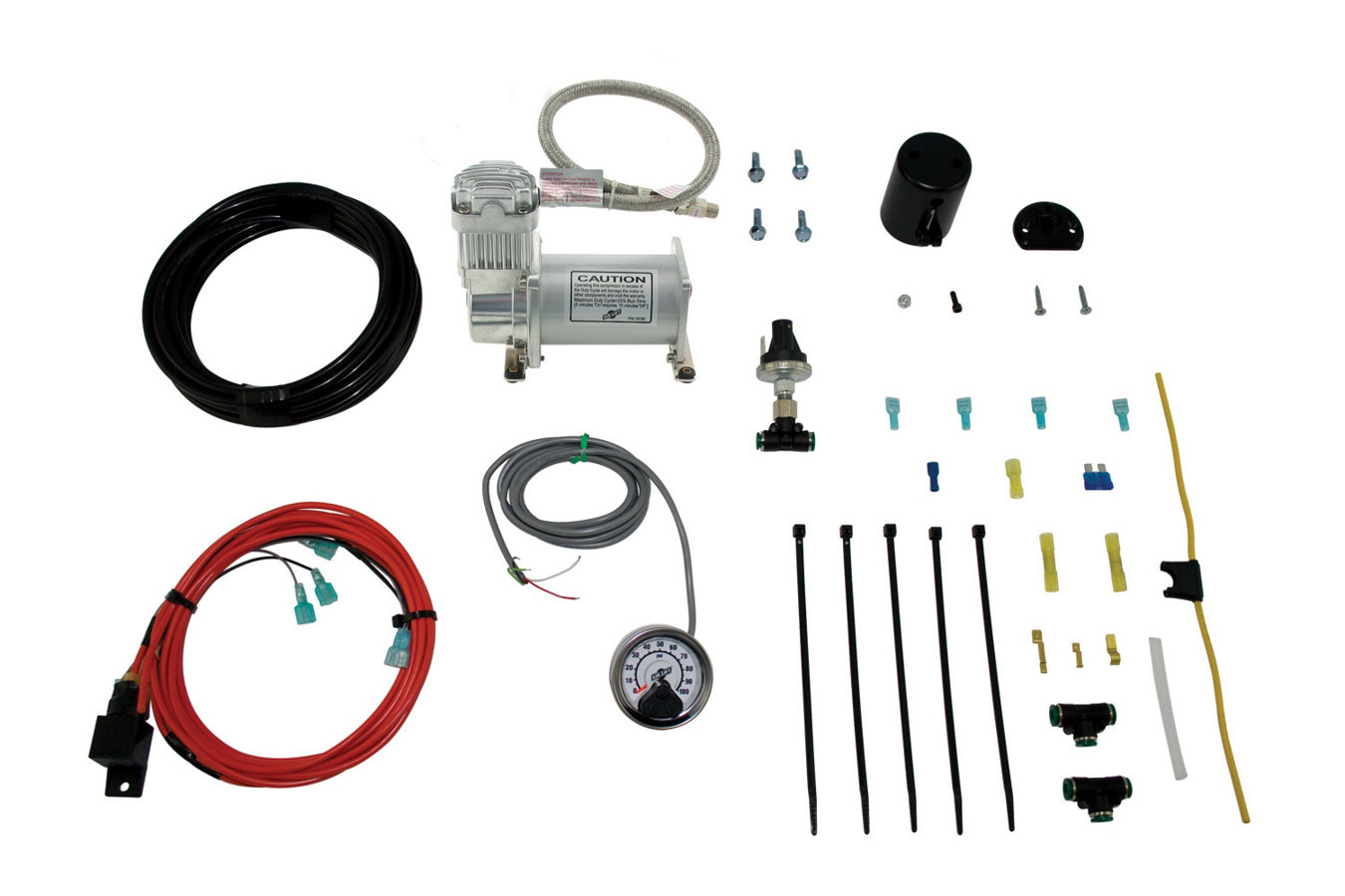 Air Lift 25854 Air Compressor, Load Controller Single, Suspension, 120 psi Max, 12V, Single Gauge, Controls / Pressure Sensor, Airlift Air Spring Kits, Kit