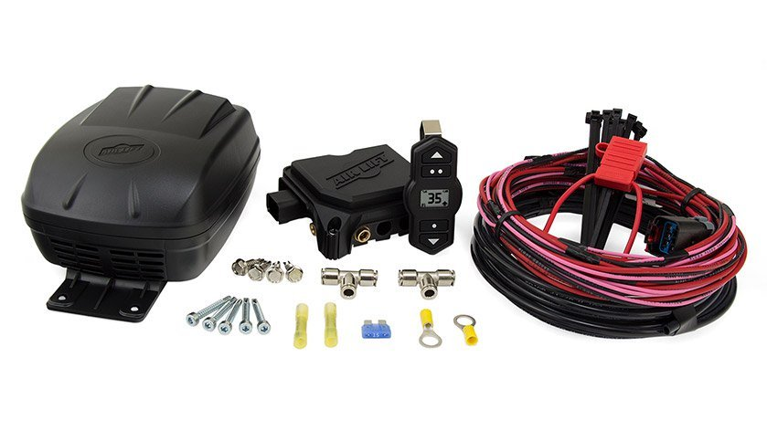 Air Lift 25980 Air Compressor, Wirelessone 2nd Generation, Suspension, 100 psi Max, 12V, Digital Gauge, Pressure Sensor / Wireless Controls, Airlift Air Spring Kits, Kit