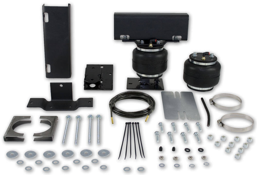 Air Lift 57128 Air Spring Kit, Loadlifter 5000, Bags / Brackets / Lines, 5000 lb Capacity, Black Powder Coat Brackets, Rear, GM Fullsize Truck 1988-98, Kit