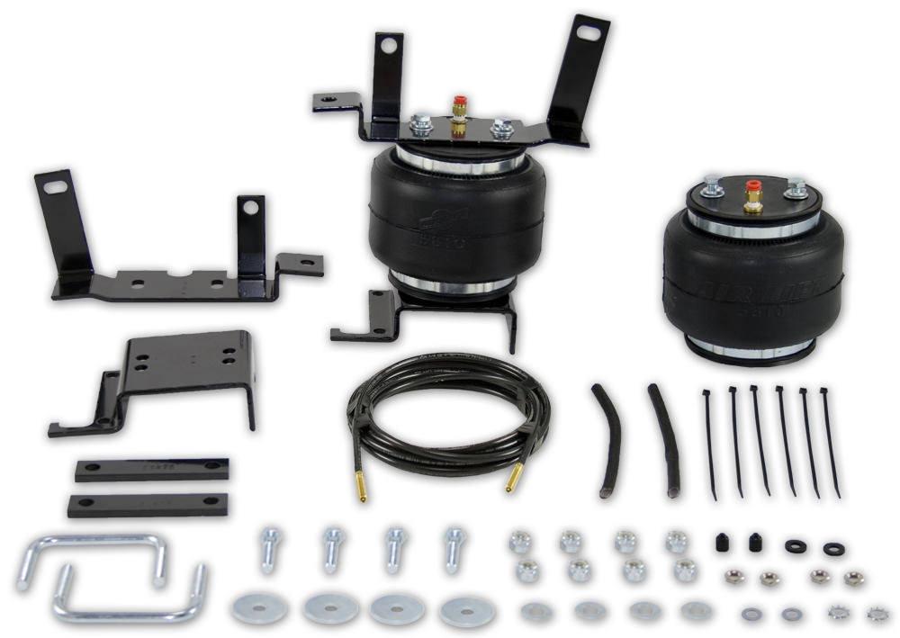 Air Lift 57154 Air Spring Kit, Loadlifter 5000, Bags / Brackets / Lines, 5000 lb Capacity, Black Powder Coat Brackets, Front, 4WD, Ford Fullsize SUV / Truck 1999-2005, Kit