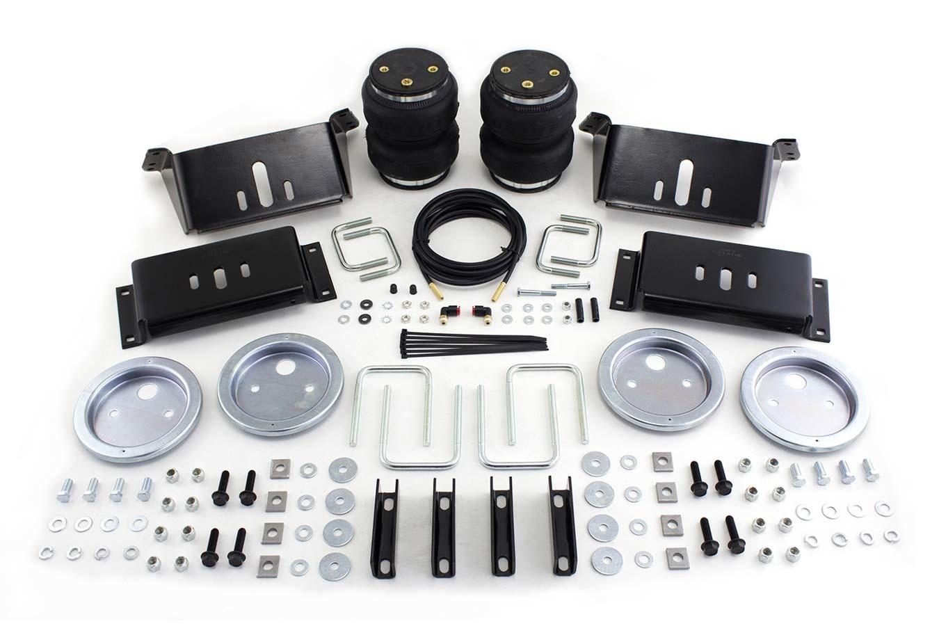Air Lift 57215 Air Spring Kit, Loadlifter 5000, Bags / Brackets / Lines, 5000 lb Capacity, Black Powder Coat Brackets, Rear, Various Applications, Kit