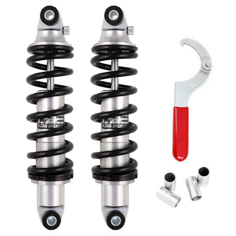 Aldan American A658300B Coil-Over Shock Kit, Phantom Series, Single Adjustable, Front / Rear, 300 lb/in Spring Rate, Aluminum, Kit