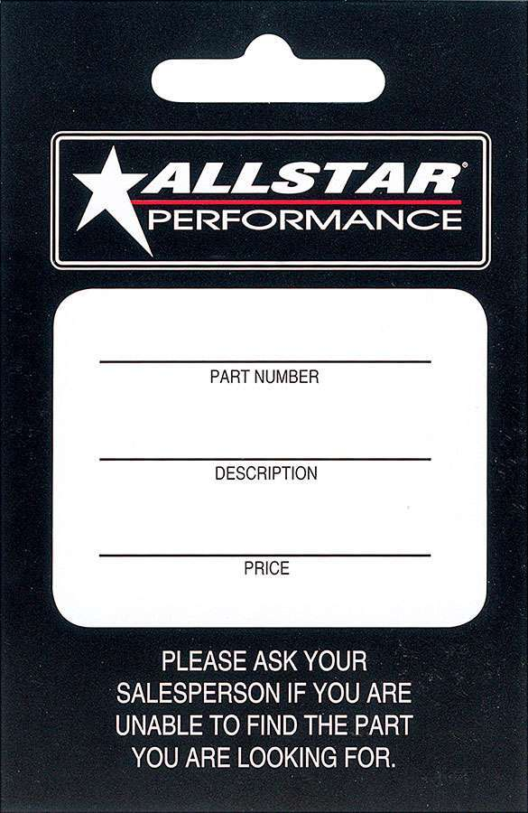 Allstar Performance  Hang Tag 100 Pack