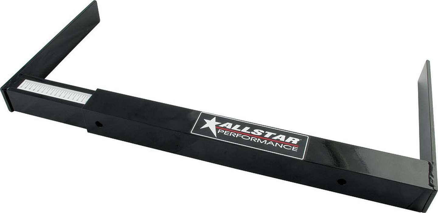 Allstar Performance 10116 Stagger Gauge, Measures 65 in to 115 in, 1/4 in Increments, Square Tube Design, Aluminum, Black Paint, Each