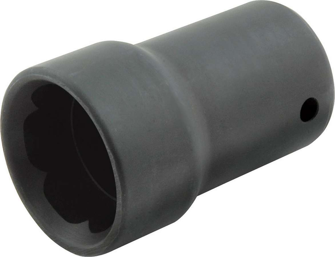 Allstar Performance 10230 Lug Nut Socket, Pit Socket, 1/2 in Drive, 2-1/4 in Long, Steel, Black, 1 in Lug Nuts, Each