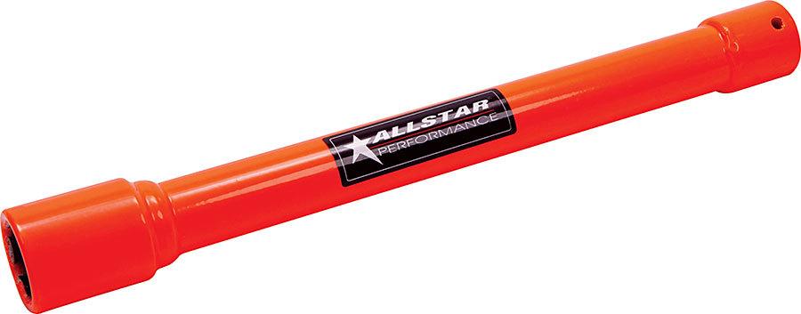 Allstar Performance 10240 Lug Nut Socket, Pit Socket, 1/2 in Drive, 12 in Long, Steel, Orange, 1 in Lug Nuts, Each