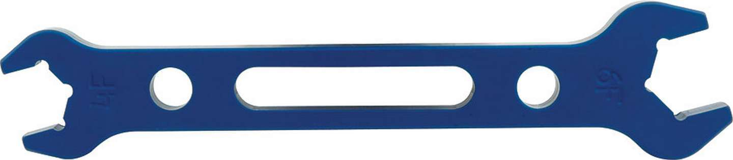 Allstar Performance 11126 AN Wrench, Double-End, 4 AN Nut to 6 AN Socket, Aluminum, Blue Anodize, Each
