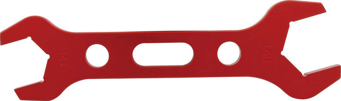 Allstar Performance 11132 AN Wrench, Double-End, 12 AN Nut to 16 AN Socket, Aluminum, Red Anodize, Each