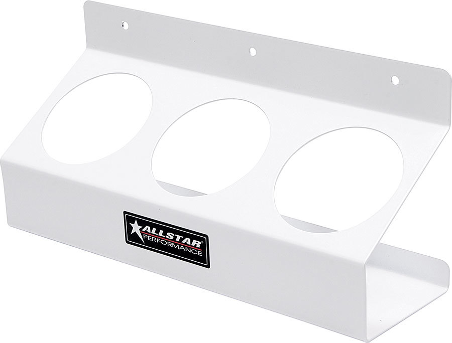 Allstar 12201 Aerosol Can Holder, 11-1/2 in Long, 3-1/2 in Deep, 5-1/2 in Tall, 3 Can Capacity, Steel, White Paint, Each
