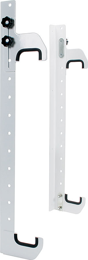 Allstar 12216 Radiator Hanger, Wall Mount, Adjustable, 29 in Tall x 2-1/4 in Wide Radiators, Aluminum, Natural, Kit