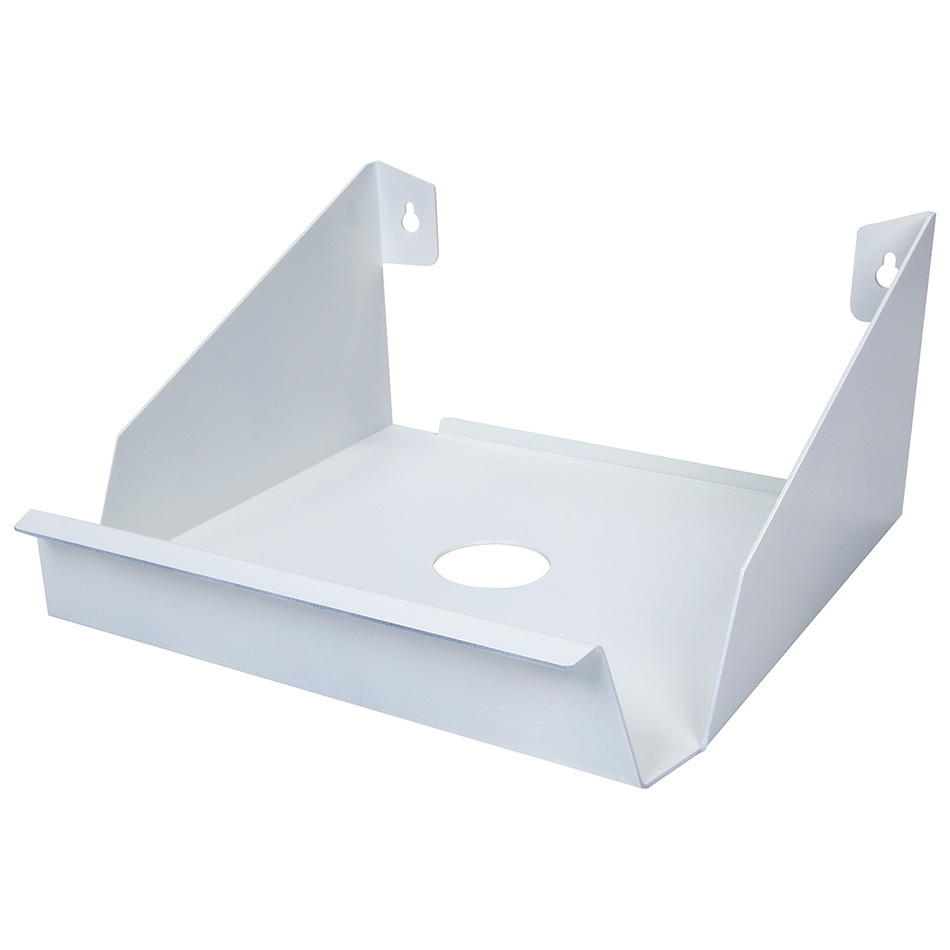 Allstar 12220 Shop Towel Holder, Box Style, 9-1/2 x 9-1/2 in, Steel, White Powder Coat, Each