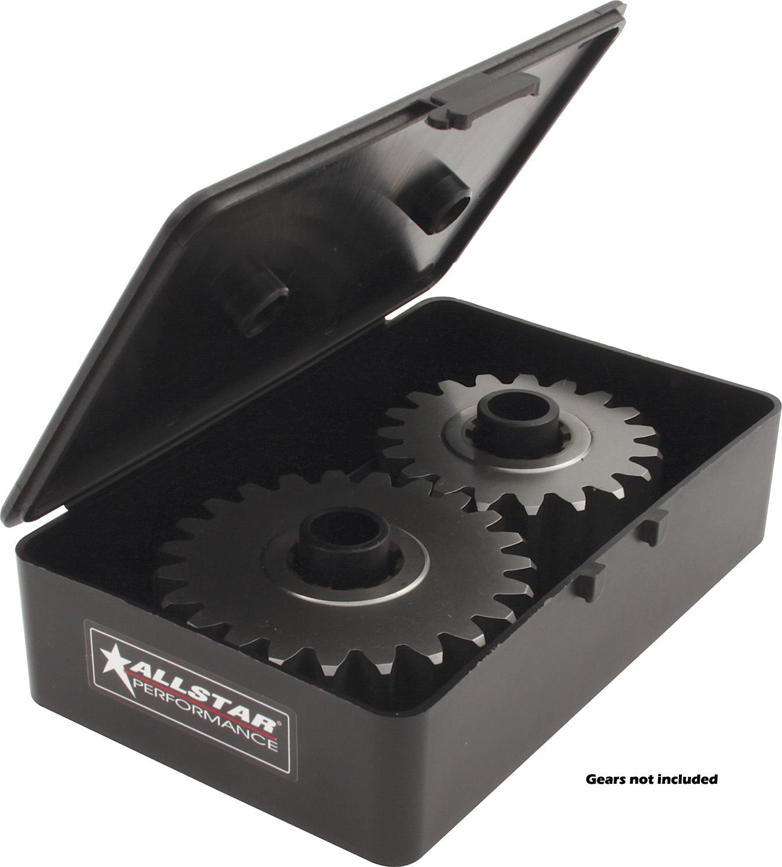 Allstar Performance 14351-10 Quick Change Gear Set Storage Case, Plastic, Black, Set of 10