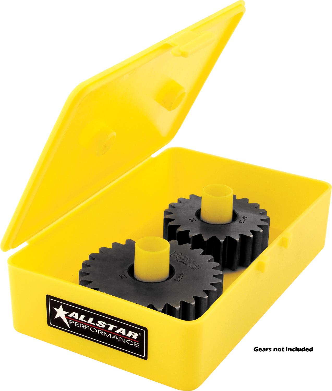 Allstar Performance 14352 Quick Change Gear Set Storage Case, Plastic, Yellow, Midget, Each
