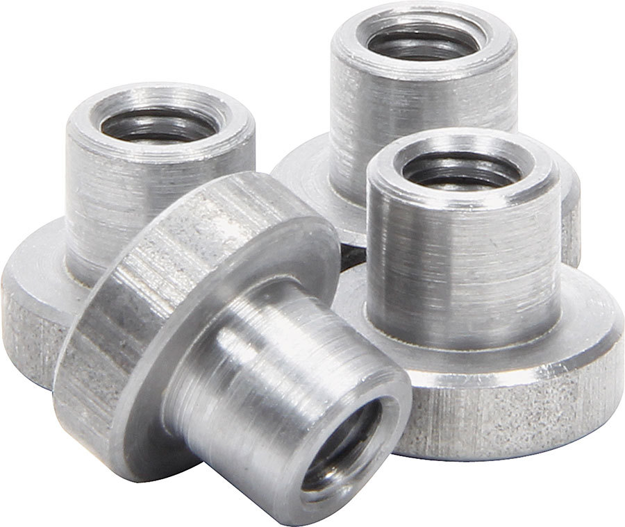 Allstar Performance 18546 Weld-On Nut, 1/4-20 in Thread, 3/4 in OD Mounting Hole, Steel, Natural, Set of 4