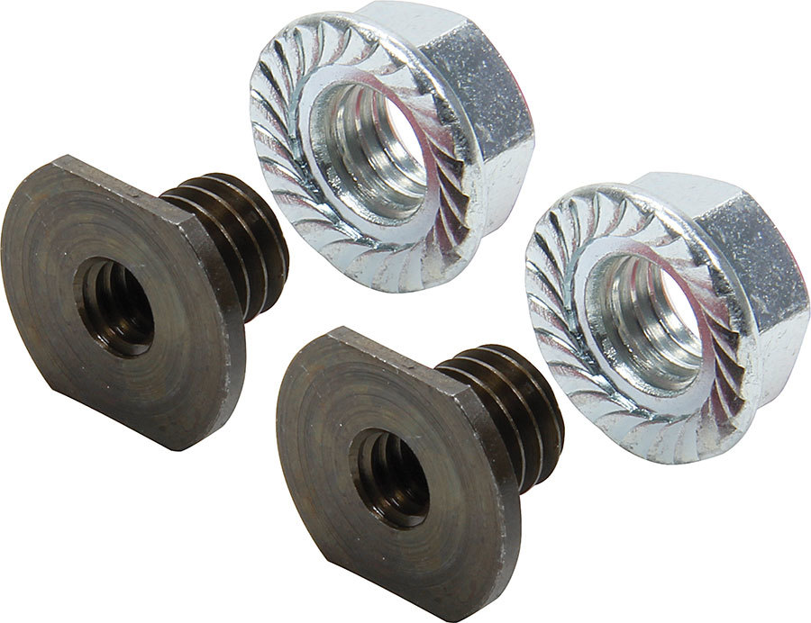 Allstar Performance 18547 Threaded Nut Insert, 1/4-20 in ID, 3/8 in OD, Steel, Black Oxide, Pair