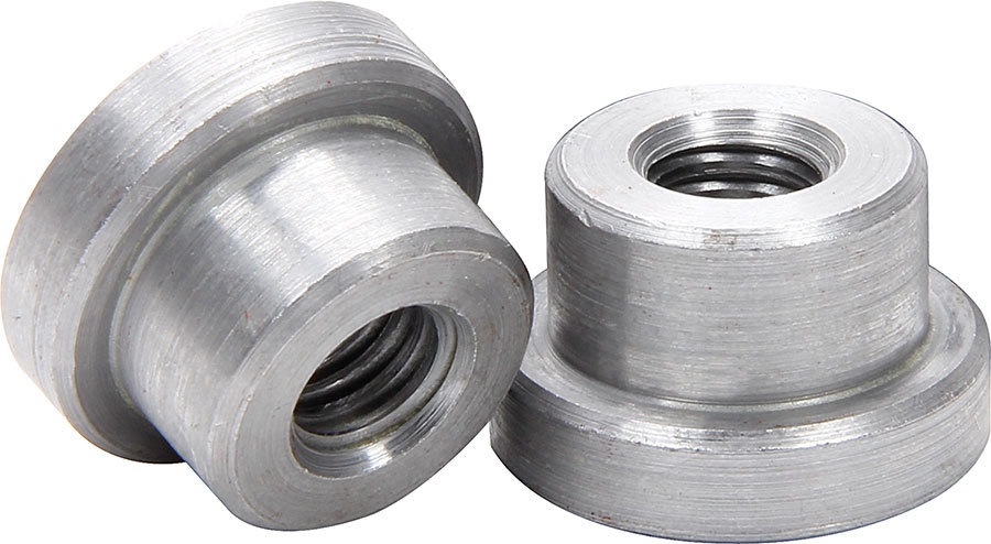Allstar Performance 18549-25 Weld-On Nut, 3/8-16 in Thread, 3/4 in OD Mounting Hole, Steel, Natural, Set of 25