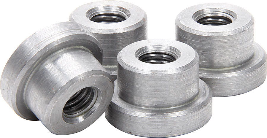 Allstar Performance 18549 Weld-On Nut, 3/8-16 in Thread, 3/4 in OD Mounting Hole, Steel, Natural, Set of 4