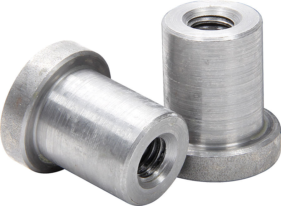 Allstar Performance 18550-25 Weld-On Nut, 3/8-16 in Thread, 3/4 in OD Mounting Hole, Steel, Natural, Set of 25