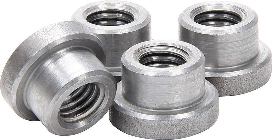 Allstar 18551 Weld-On Nut, 1/2-13 in Thread, 3/4 in OD Mounting Hole, Steel, Natural, Set of 4