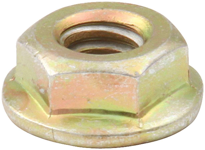 Allstar Performance 18556-50 Nut, Locking, 1/4-20 in Thread, Hex Head, Serrated Flange, Steel, Cadmium, Universal, Set of 50