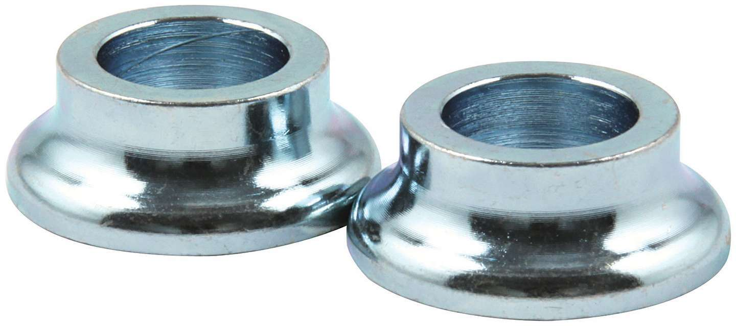 Allstar Performance 18571 Tapered Spacer, 1/2 in ID, 3/8 in Thick, Steel, Zinc Plated, Universal, Pair