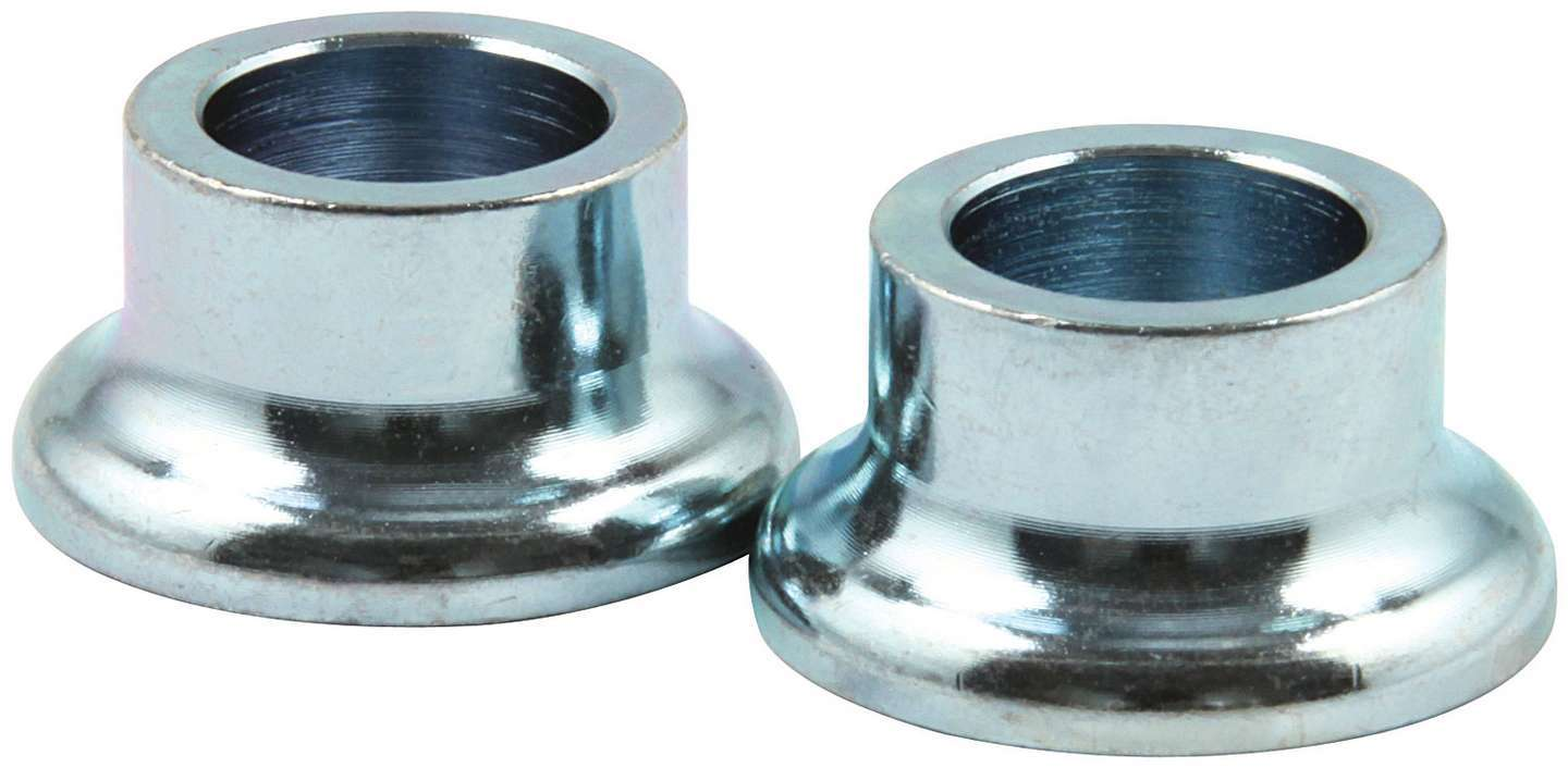 Allstar Performance 18572 Tapered Spacer, 1/2 in ID, 1/2 in Thick, Steel, Zinc Oxide, Universal, Pair