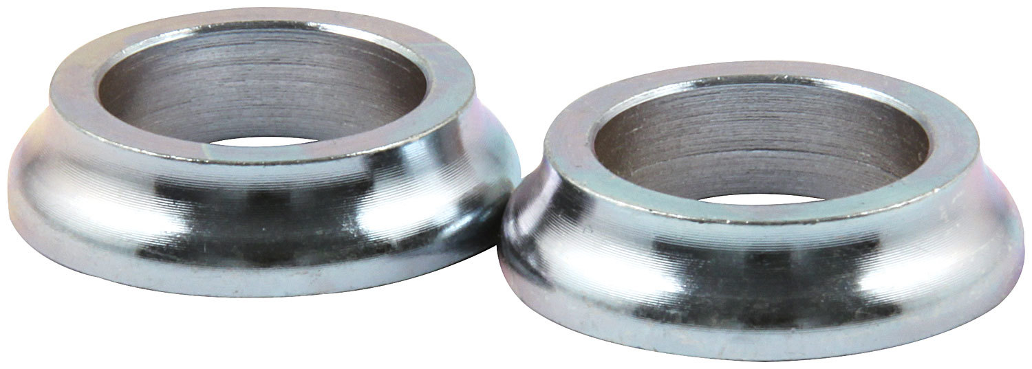 Allstar Performance 18580-10 Tapered Spacer, 5/8 in ID, 1/4 in Thick, Steel, Zinc Plated, Universal, Set of 10
