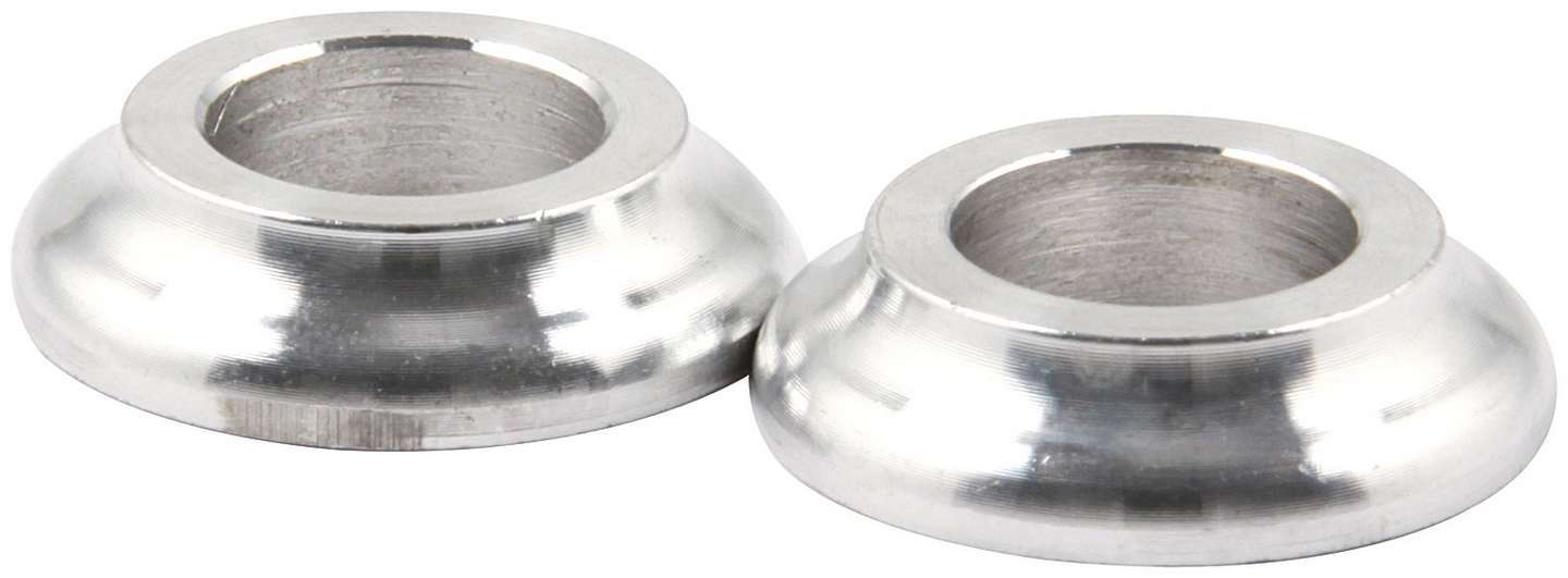 Allstar Performance 18590 Tapered Spacer, 1/2 in ID, 1/4 in Thick, Aluminum, Natural, Universal, Pair