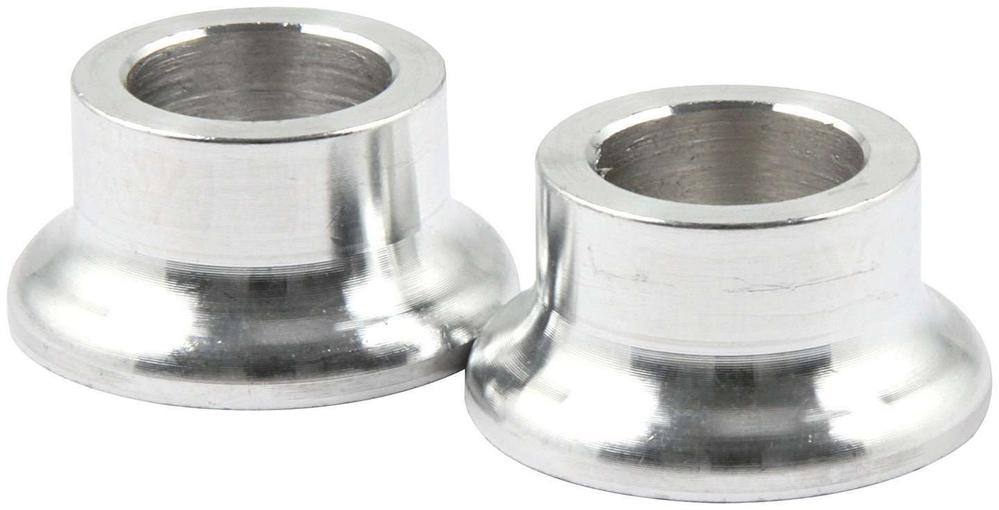 Allstar Performance 18592 Tapered Spacer, 1/2 in ID, 1/2 in Thick, Aluminum, Natural, Universal, Pair