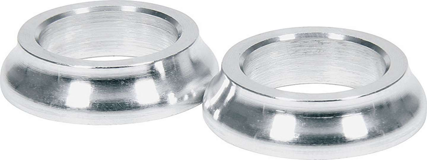 Allstar Performance 18597 Tapered Spacer, 5/8 in ID, 1/4 in Thick, Aluminum, Natural, Universal, Pair