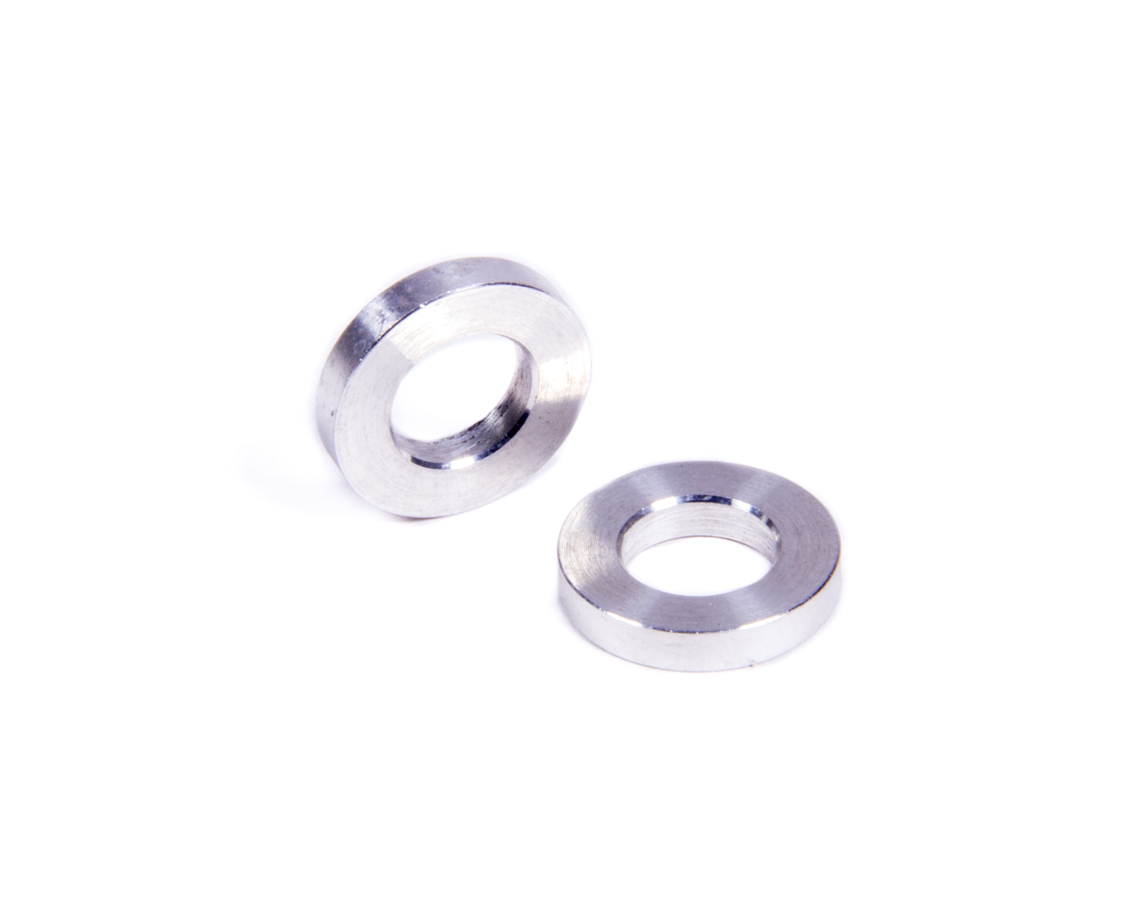 Allstar Performance 18740 Flat Spacer, 3/8 in ID, 11/16 in OD, 1/8 in Thick, Aluminum, Natural, Universal, Pair
