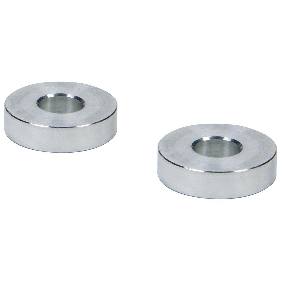 Allstar Performance 18820 Hourglass Spacer, 3/8 in ID, 1/4 in Thick, Aluminum, Natural, Universal, Pair